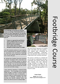Footbridge Purchasing & Inspection course overview